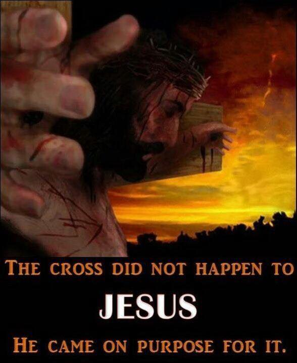 The Cross did Not Happen to Jesus, He came on purpose for it