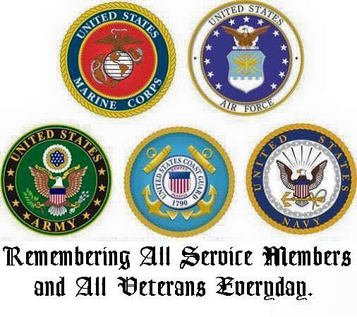 Remembering All The Service Members Of The Five Branches Of Service
