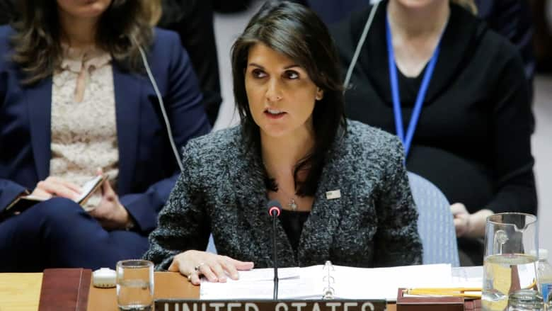 The United States is leaving the United Nations Human Rights Council
