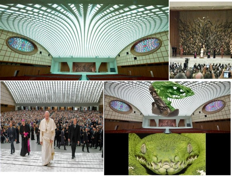 The Papal Audience Hall Building At The Vatican Constructed In The Shape Of A Giant Reptile