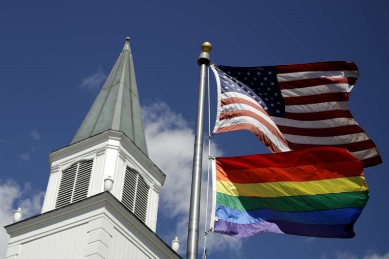 United Methodist Church American Flag Gay Flag