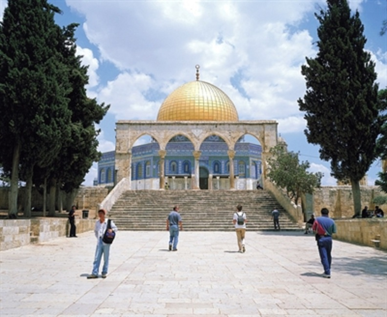 Dome of the Rock is situated on the Temple Mount