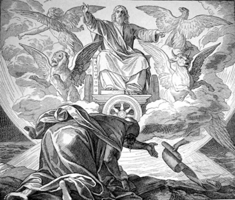 The chariot of God in Ezekiel's vision
