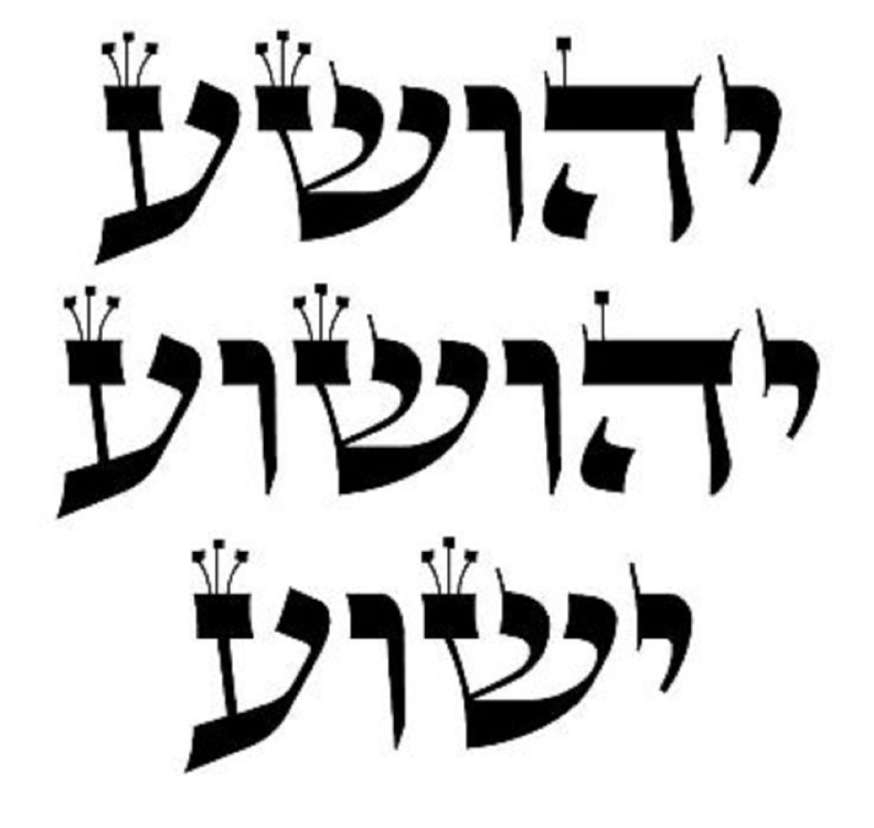 Variations of the Hebrew name Yeshua Jesus